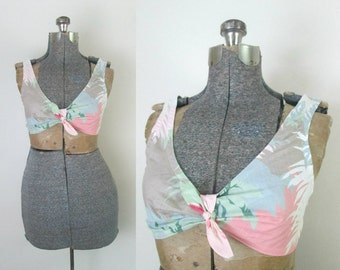 Pastel Bra Bralette Top 1980s Fashion Colors