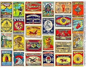 Safety Matchbox Art - Printed Stickers, Matchbook Clip Art, Match Box Covers, Matchbook Cover Art, Wood Match Box, Matchbook Labels, 283a