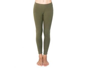 Organic Yoga Pants - Organic Yoga Clothing - Organic Cotton Leggings - Athleisure - Best Leggings - Green Leggings
