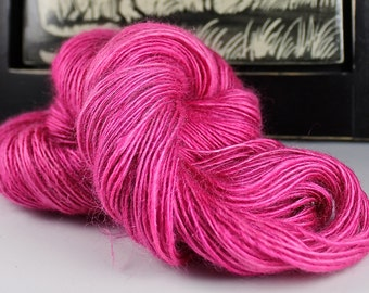 Handspun Yarn Kid Mohair Gently Thick and Thin Light DK Single 'The Girls are Out'