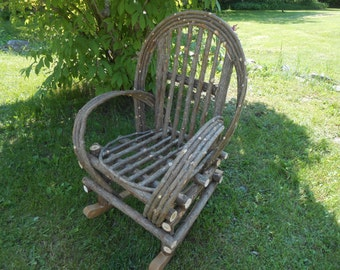 Twig Furniture Rustic Handmade Handcrafted Cedar Rocking Chair Shipped only in New England