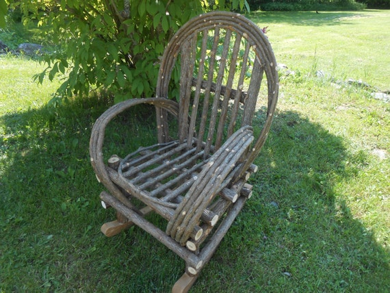 Rustic Cedar  Bentwood Twig Rocking Chair Shipped only in New England