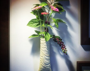 Ceramic wall vase, wall pocket, hanging pottery vase, handmade wall vase