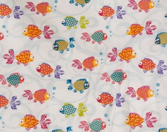 Colorful Goldfish print Flannel pants pajama pants dorm lounge made to order your choice size XS - 2X