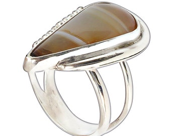 Montana Agate Statement Ring Size 9-1/2  r95mntf2670