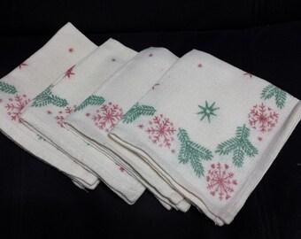 Christmas Napkins, set of 4