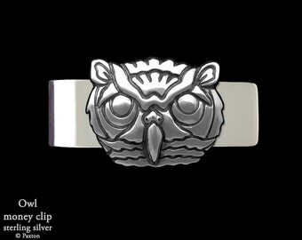 Owl Money Clip Sterling Silver