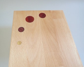 dotted french bread cutting board beech wood