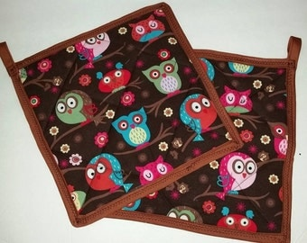 Owl potholder set