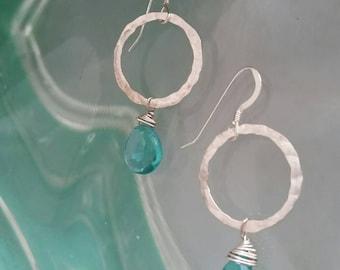 Sterling silver and apetite mini hoop earrings