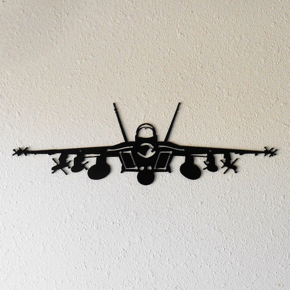 F-18 Super Hornet Metal Wall Decoration