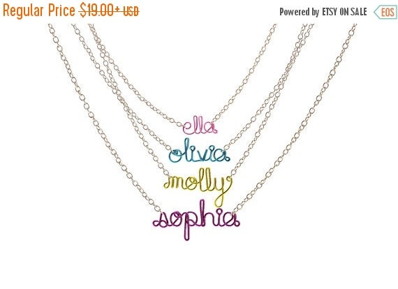 Childrens Name Necklace - Personalized Gift for daughter, niece, sister, friend, birthday gift, little girls necklace, name bracelet