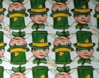 Vintage German paper cutouts scrap Cake Decorations St Patricks day