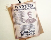 Groomsman cards. Wanted groomsman card. Best man notecard. Old wanted ad inspired. GC494