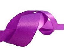 "16mm Vintage 1960s Violet Purple Satin Ribbon, By The Yard, 5/8"" Polyester Ribbon"