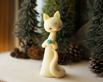 Moon Cat - Glow in the Dark Cat Figurine by Bonjour Poupette