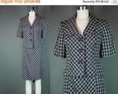 40% OFF 50s Skirt Suit Set Vintage 1950s Black White Skirt Designer Jacket Troy Hannah Short Sleeve Career Work S M