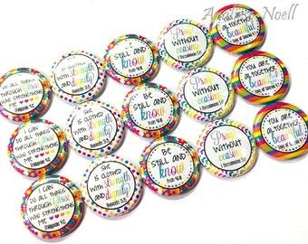 "Prayer Magnet, 1"", Button Magnet, Prayer Button, Prayer, Church Party Favors, Christian Birthday, Scripture Magnet, Christian Magnet, Verse"
