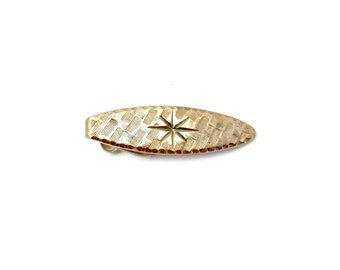 Gold Star Art Deco Tie Bar Clip