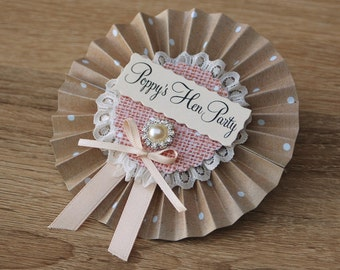Vintage Style Jewel Hen Party Rosettes
