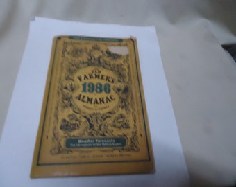 Vintage The Old Farmers Almanac 1986 collectable, ephemera, Agriculture