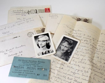 Vintage Ephemera Lot Old Photos - Letters from mother to daughter