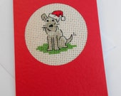 Christmas Cross Stitch Miniature Schnauzer Jack and Border (For Carrie Only)