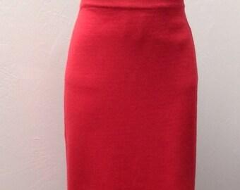 Sale Valentines 1980s Knit Skirt by Liz Claiborne, Size Medium,  #40697