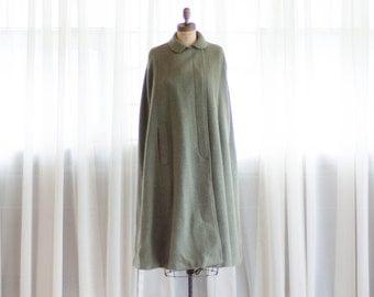 1970s Wool Cape - Vintage 70s Cloak - Tamporel Wool Cloak