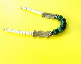 Mixed media boho necklace//layering//boho necklace//long necklace//gemstone necklace//layering necklace//hippie necklace/hippy boho