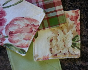 Country Fresh, linen coasters