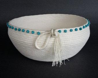 Clothesline Basket, Coiled Basket, Serenity