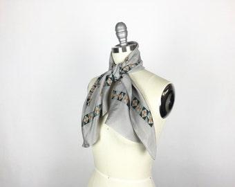 Vintage Scarf / 1930s Scarf / 1920s Scarf / Silk Scarf / Art Deco Scarf / Long Scarf / 1920s Wrap 1930s Wrap Silk Fabric