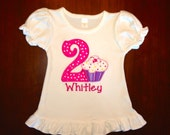 Birthday Lil' Cupcake personalized shirt or bodysuit - choose short or long sleeve