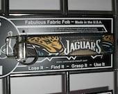 Jacksonville Jaguars NFL Football Team ~ I56 ~ Key Chain Fob ~ Zipper Pull
