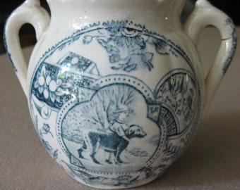 Little Mae Child's Sugar Bowl / Teal Blue