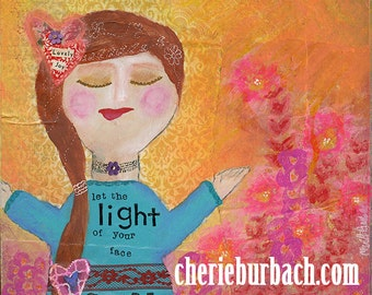 Let the Light of Your Face Shine (Psalm 4) - a Christian Art Print