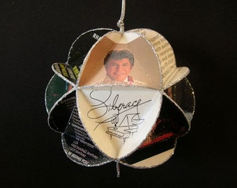 Liberace Album Cover Ornament Made From Repurposed Record Jackets