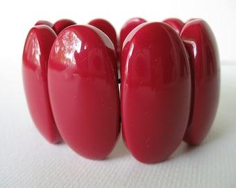 Vintage Bright Red Elastic Bracelet