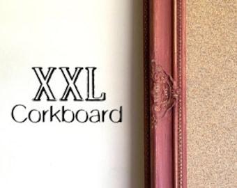 Red Kitchen CORK BOARD Framed Corkboard Large Bulletin Board Maroon Burgundy Wine Gold Wall Decor Home Office Wall Organizer Tuscan Decor