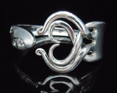 Recycled Jewelry, Fork Bracelet, Eco Friendly Gift, in Heart Design Number Three