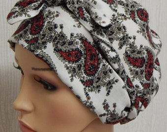Chemo bonnet head wear, alopecia head covering, chemotherapy head scarf, cancer patients head wrap, light chemo head scarf, summer head wear