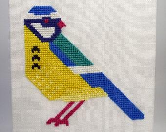 Blue Tit Cross Stitch Embroidery