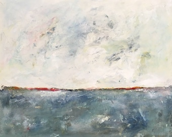 Abstract Seascape Original Painting - Ocean Calm 24 x 20