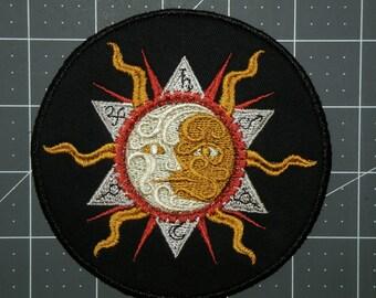 "Steampunk Alchemy 'The Heavens'  Iron on Patch 4.7"""