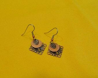 Copper snowflake earrings (Style #451C)