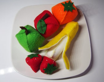 Play toy food -  Felt Fruits - Pretend play