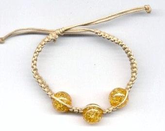 Hemp Bracelet Yellow