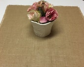 Set Of 8- Burlap Table Squares-Wedding-Reception-Banquets-Large Gathering-family Reunion