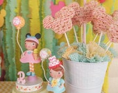 Made to Order~ Birthday Cake Topper~Vintage Inspired  Keepsake Decoration~ Little Girl Toddler Babies Babys 1ST~Happy Whimsy~MudPie Headband